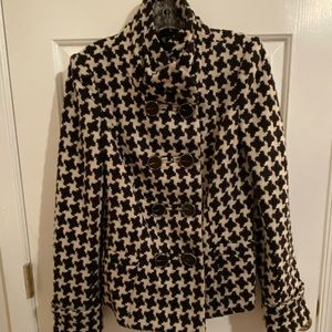 Houndstooth Pea Coat, The Limited